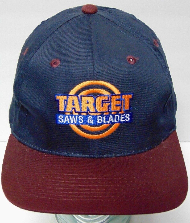 New Old Vintage 1990s Target Saws & Blades Logo Advertising Snapback Hat Cap