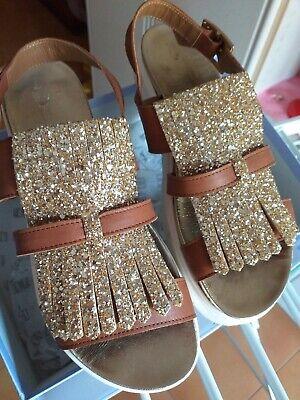 Basso Color Pelle Sandalo Donna N Cuoio DorataEbay 38 Frangia Con PkOZXuTi
