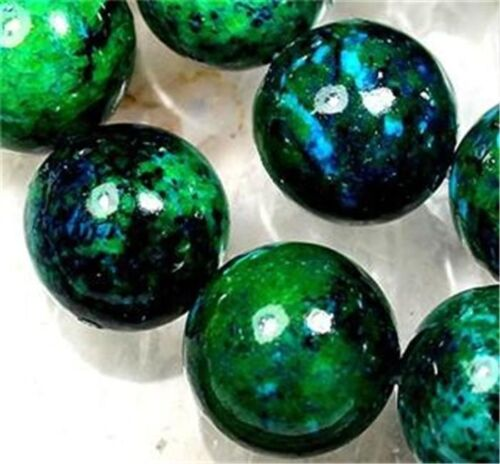 """8 mm Azurite Chrysocolle Pierres Précieuses Ronde Loose Beads 15/"""""""