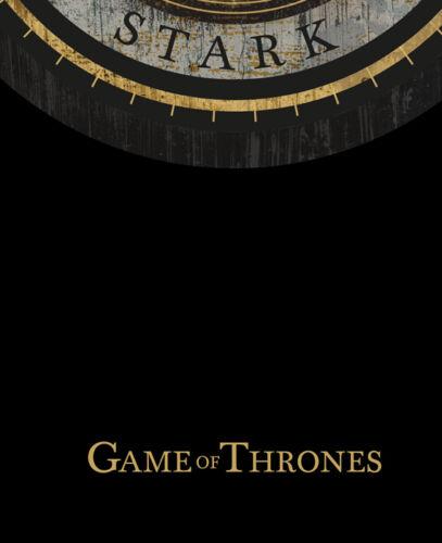 Hiver Est Coming Maison Stark Gris Direwolf Details about  /Game Of Thrones Imprimé Jon Snow