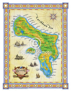 "19.5 x 25/"" Bahamas Vintage Look Map Poster Printed on Parchment Paper"