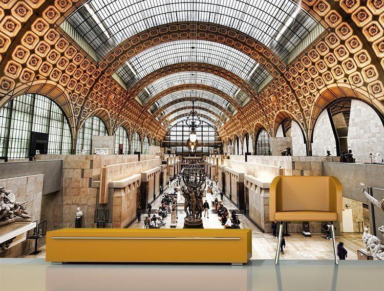 Muzeum Orsay Inside Paris 3D Full Wall Mural Photo Wallpaper Printed Home Decal