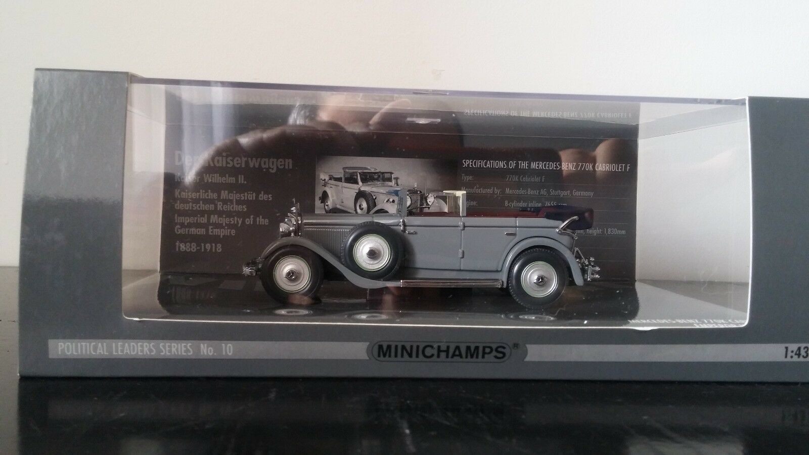 1 43 MINICHAMPS Mercedes-Benz 770K cabriolet F empereur  WILHELM II  prix les plus bas