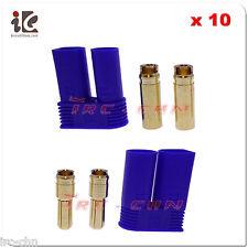 10 Pair Male / Female 5mm EC5 Super Bullet Banana Connector Plug Losi - US Ship