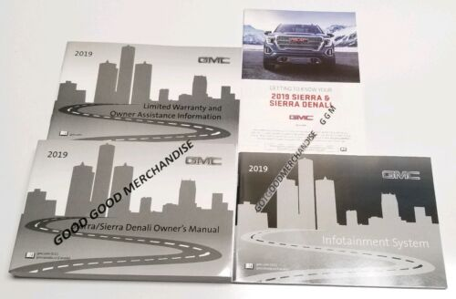 2019 GMC SIERRA NAVIGATION OWNERS MANUAL DENALI SLT SLE ELEVATION AT4 V6 V8 NEW