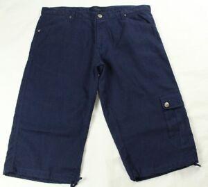 65f275203bc7 Claudio Milano Men's Cargo Shorts Blue Linen Size 48 (38 US) | eBay