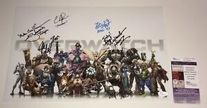 OVERWATCH-Cast-X8-Signed-11x17-Photo-Autograph-JSA-COA