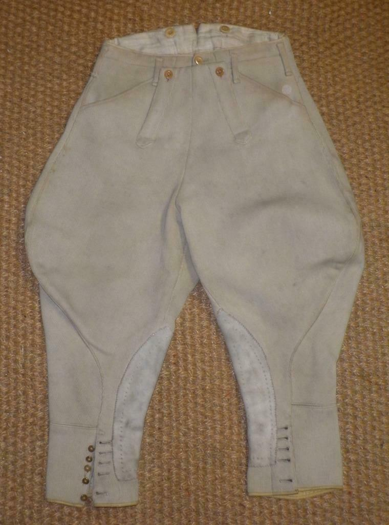 Vintage 1926 pequeñas Caballeros Harry Hall Elefante oreja Beige Pantalones Cintura Tamaño 26