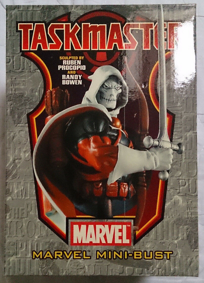 Marvel Comics Bowen Spider-Man Taskmaster mini bust statue with box