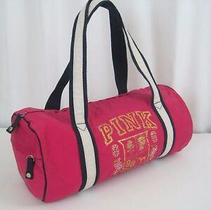 Victoria s Secret Pink 86 Duffle Bag Sport Gym Bag Tote Bling ... 7f63c03044b3b