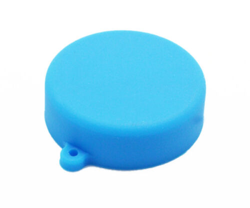 Azul Suave Silicona Cubierta Protectora De Lente De Cámara Tapa para GoPro Hero 3//3 //4