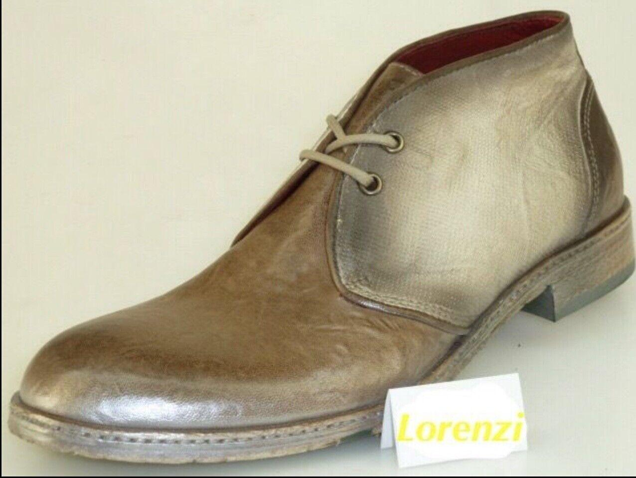 Schuhe von Lorenzi Mens Made  Leder Handmade Lace Up Italian Stiefel EUR 41   42