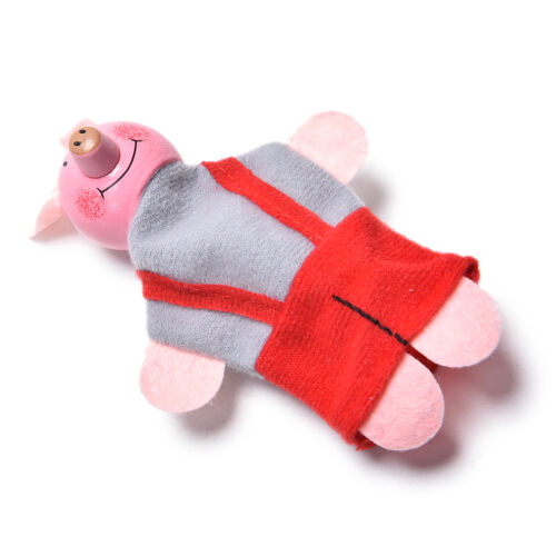 4 Pcs//Set Three Little Pigs Finger Puppets Wooden Headed Baby Educational Toy A!