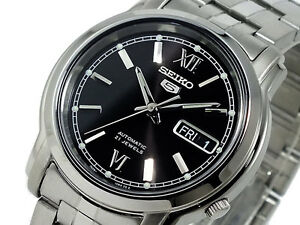 Seiko-5-Automatic-Mens-Watch-See-Through-Back-SNKK81K1-UK-Seller