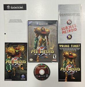 Metroid Prime (Nintendo GameCube, 2004) Complete in Box CIB Tested Black Label