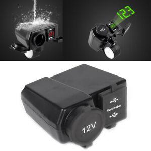 12V-Waterproof-Motorcycle-Dual-USB-Charger-Cigarette-Lighter-Socket-Motorbike
