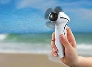 Mini-vaporise-ventilateur avec feinzerstäuber-handventilator-ventilateur-NEUF  </span>