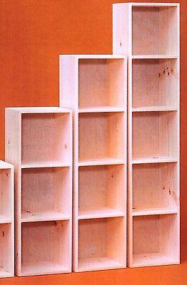 Amish Unfinished Pine Large Cubby Bookcase Shelf Storage Cuddy Cube Crate Ebay