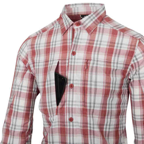 HELIKON-TEX Trip Shirt-Red Plaid Nylon Blend Chemise funktionshemd Outdoor