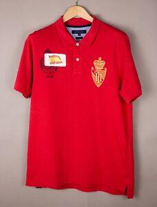 Tommy Hilfiger Hommes Espagne Slim Fit Col Polo Décontracté T-Shirt Taille XL