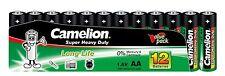 12 x Camelion AA R6 Mignon Batterie Super Heavy Duty Grün lose 1,5V 10101206
