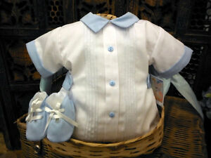Will-039-beth-Newborn-Baby-Boys-Romper-amp-Shoe-Set-Take-Me-Home-Sz-0-NWT-Dolls-Reborn