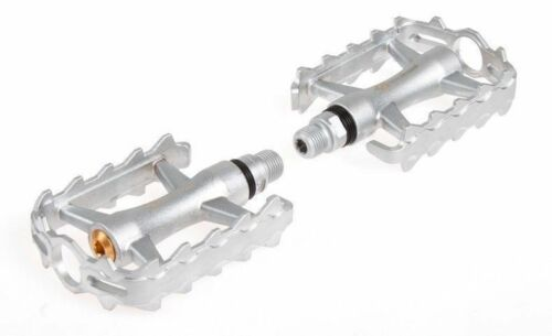 RockBros Bike Pedals BMX MTB Pedals Aluminium Seal Cartridge Bearings Silver
