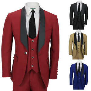 Image Is Loading Mens 3 Piece Wedding Suit Shawl Lapel Slim