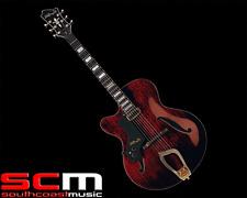 Hagstrom HL550LNMG LEFT HANDED Mahogany Jazz Hollow Body Electric Guitar