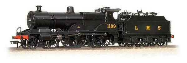 Bachmann Branchline 31-931 Class 1000 Midland Compound 4-4-0 1189 in LMS negro