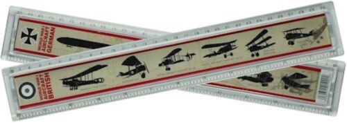 WW1 Aircraft Identification Ruler Plastic World War 1 Childrens School Equipment
