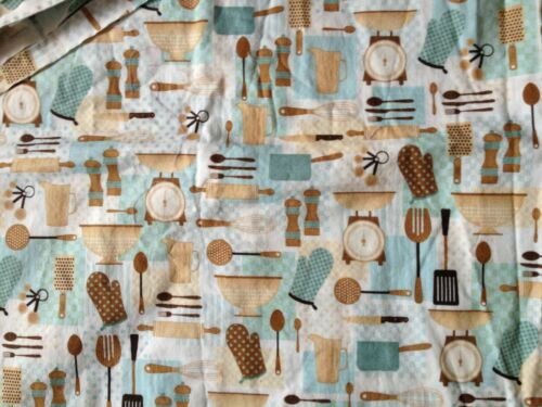 """NEW 2009 Brother Sister Design /""""Kitchen Utensils/"""" Brown//Turquoise BTHY"""