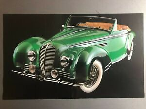 1948 Delahaye 135mm Convertible Picture Print Poster Rare Awesome L K Ebay