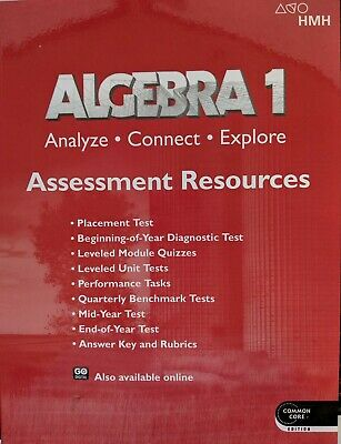 Algebra 1 Analyze Connect Explore Assessment With Answer Key 2018 Common Core EBay