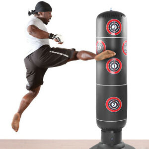 Inflatable Punching Bag 160cm Height Inflatable Boxing Bag Free Standing Heavy Training Bag for Adults Children