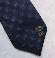 COMMONWEALTH GAMES 2006 MELBOURNE AUSTRALIA NAVY BLUE TIE PURE SILK MENS NECKTIE