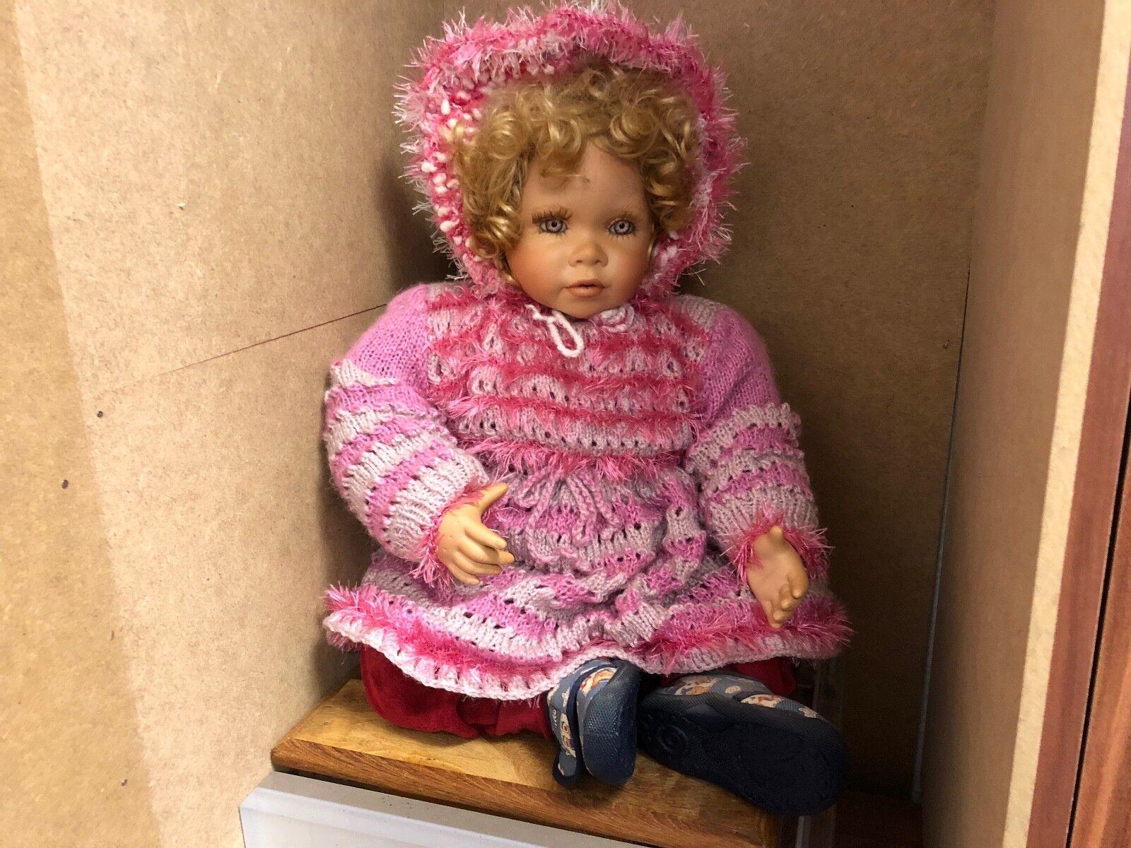 Angeli Paradiso Bambola D'Autore Porcellana Bambola 62 Cm. Ottime Condizioni