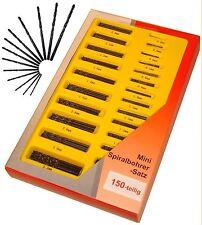 MINIBOHRER 150 Stück im Koffer SPIRALBOHRER 0,4 - 3,2mm NEU kleine Bohrer