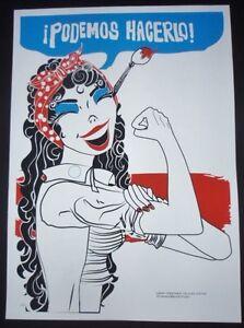 WE-CAN-DO-IT-Feminist-Cuban-Screenprint-Poster-Salutes-US-Cuba-Ties-COMICS-ART