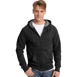 7a4bf2b59 2 Hanes Men's Nano Premium Lightweight Full Zip Hoodies N280 S Black ...