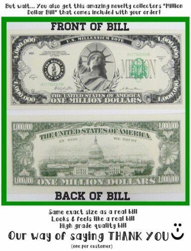 1 Fake Million Bill 5 FAKE prank cop parking tickets