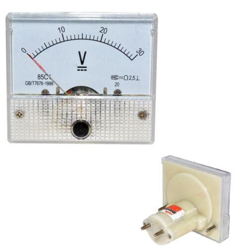 1Stks DC 30V Analog Panel Volt Voltage Meter Voltmeter Gauge 85C1 0-30V NEW