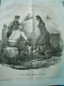 Litho 1833 - Scènes Familières Bon Chien Chasse De Race Une Grande VariéTé De Marchandises