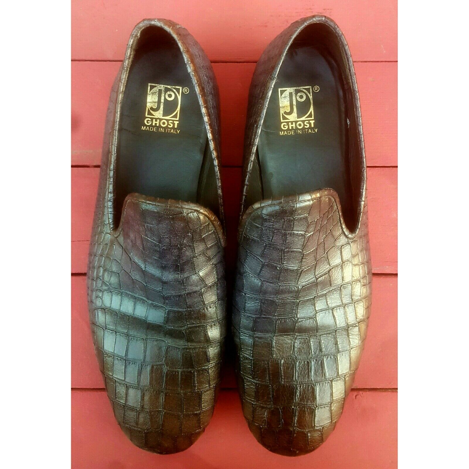 Jo Ghost diseñador hecho en Italia Mocasín de vestir Zapatos para hombre Talla 11 45 US de TI