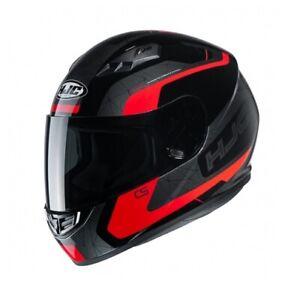 NEW-HJC-Helm-CS-15-Dosta-schwarz-rot-grau-Gr-M-57-58-Motorradhelm-MC1-NEU