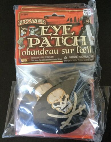 Novelty Satin Pirate Eye Patch BULK//LOT-1 DZ NEW in Packaging