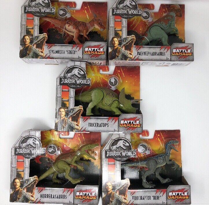 Jurassic World Ftuttien redom Set Of 5 Battle Damage Dinosaurs  Walmart Exclusive  autorizzazione
