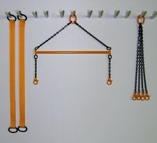 """4"""" Brass Crane Spreader Bar Set in New Cat Yellow. 1:50 1:48th Scale. USA Made."""
