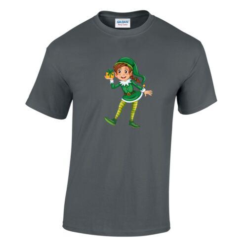 Elf Court Nouveau Cadeau de Noël Enfants Homme Inspiré Top fantaisie portant t-shirt Cadeau