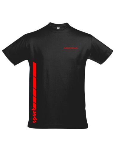 """Opel Ascona Sport dekor T Shirt Schriftzug /"""" ASCONA SPORT /""""  versch Farben"""